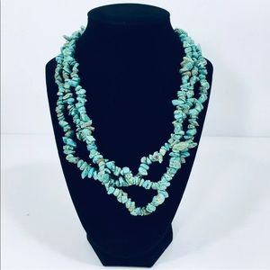 Jewelry - Turquoise necklace three strand preowned